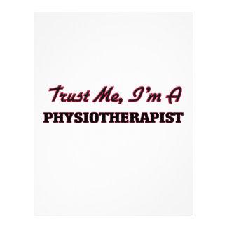 Trust me I'm a Physioarapist Custom Flyer