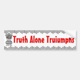 Truth Alone bumper sticker