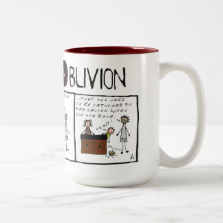 """Truth and Oblivion #6 """"Grey Matter Two-Tone Mug"""