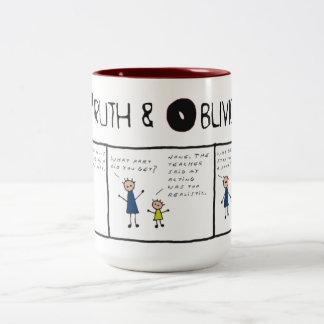 Truth and Oblivion #7 - No Reality Wanted Two-Tone Coffee Mug