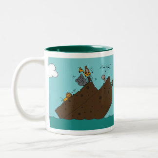 Truth and Oblivion Noah's Ark Two-Tone Coffee Mug