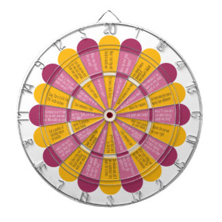 Truth or Dare (no kissing) Pink and Yellow Flower Dartboard