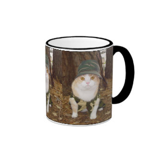 Try Hunting with Your Teeth! Ringer Coffee Mug