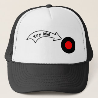 Try Me Button Trucker Hat