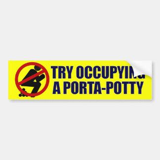 Try Occupying a Porta-Potty Bumper Sticker