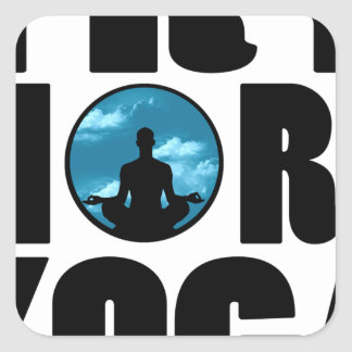 try yoga.png square sticker