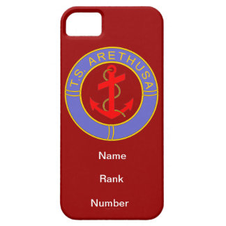 TS Arethusa Name Rank Number Customisable iPhone 5 Cover