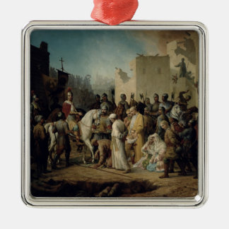 Tsar Ivan IV conquering Kazan in 1552, 1894 Christmas Ornament