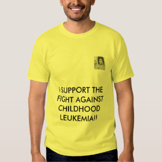 tt, I SUPPORT THE FIGHT AGAINST CH... - Customized T-shirt