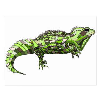 Tuatara Green Postcard