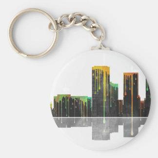 Tucson Arizona Skyline Basic Round Button Key Ring