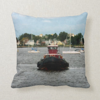 Tugboat Bow Norfolk VA Cushion