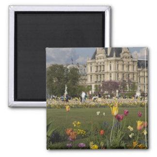 Tuileries Garden, Louvre, Paris, France Square Magnet