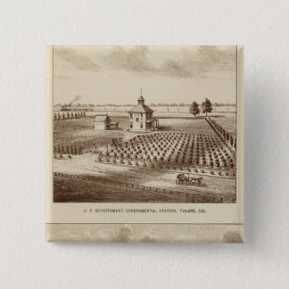 Tulare Co ranch, station 15 Cm Square Badge