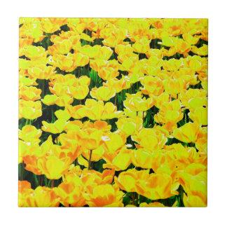 Tulip field - golden yellow tile