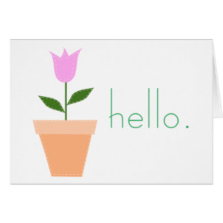 Tulip in a Pot Hello Notecard