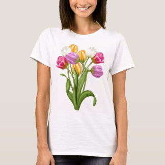 Tulip TShirt For women spring flowers