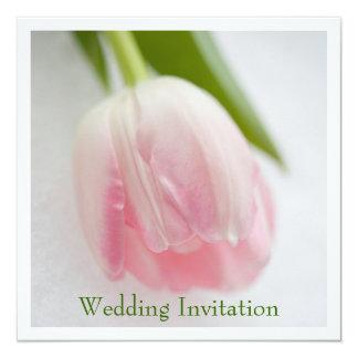 """Tulip Wedding Invitation 5.25"""" Square Invitation Card"""