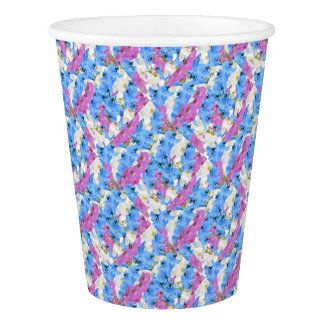 Tulips Floral Colorful Party Supply Paper Cup