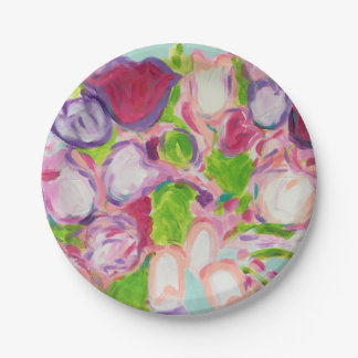 Tulips Overflowing Paper Plate