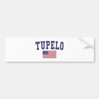 Tupelo US Flag Bumper Sticker