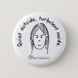 Turbulent Inside White Button