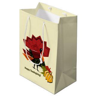 Turkey and Pumpkin Design Thanksgiving Gift Bags