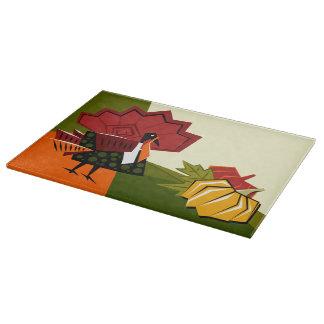 Turkey and Pumpkin Thanksgiving Cutting Board