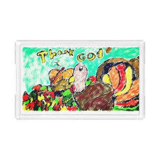 turkey  art two acrylic tray