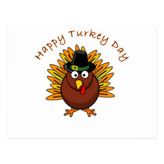 Turkey Day Thanksgiving Holiday Turkey Logo Postcard