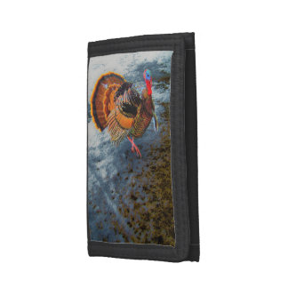 Turkey in Snow 2 Tri-fold Wallet