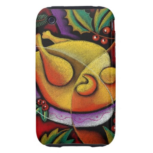 Turkey on platter tough iPhone 3 cases