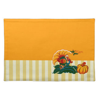 Turkey & Pumpkin Design Thanksgiving Placemats