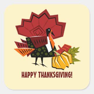 Turkey & Pumpkin Design Thanksgiving Stickers