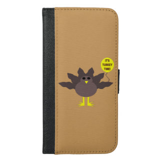 Turkey Time Thanksgiving iPhone Wallet Case