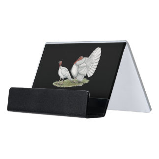 Turkeys White Holland Desk Business Card Holder