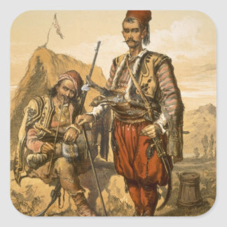 Turkish foot soldiers in the Ottoman army, pub. by Square Sticker