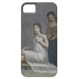 Turkish Girl, having her hair braided in the baths iPhone 5 Case