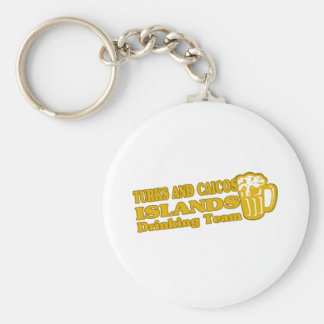 TURKS AND CAICOS ISLANDS BASIC ROUND BUTTON KEY RING