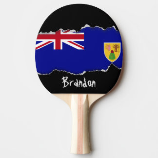 Turks and Caicos Islands Flag Ping Pong Paddle