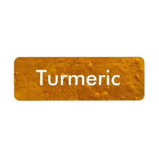 Turmeric Spice Jar Labels