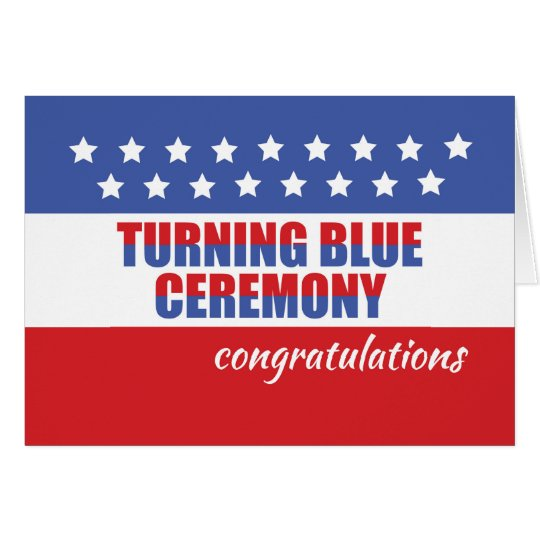 Turning Blue Ceremony, Congratulations with Stars Card