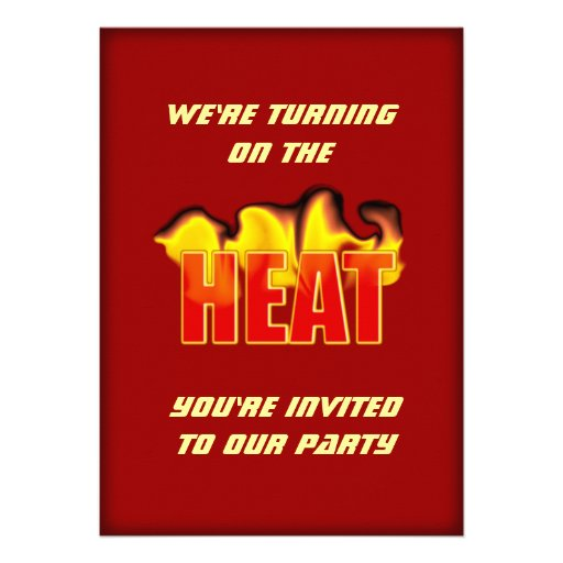 Turning On The Heat Flames BBQ Party Event Personalized Invites
