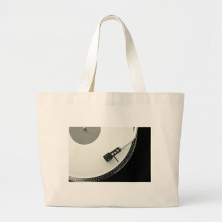Turntable Needle Record Player Large Tote Bag