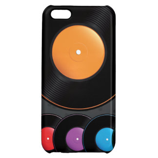 Turntable Records In Vivid Colors iPhone 5C Cases