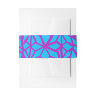 Turquoise and purple Geometric Invitation Belly Band