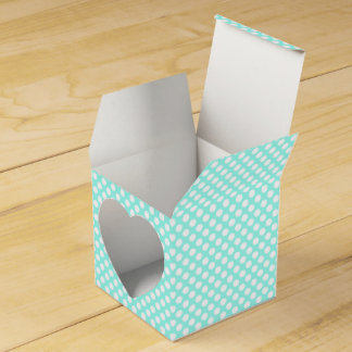 Turquoise and White Polka Dot Favor Box