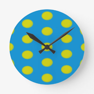 Turquoise and Yellow Egg Clock