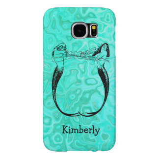 Turquoise Aqua Splash Mermaids Playing Water Samsung Galaxy S6 Cases