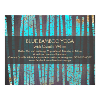 Turquoise Bamboo Yoga  Nature Health Spa Wood 21.5 Cm X 28 Cm Flyer